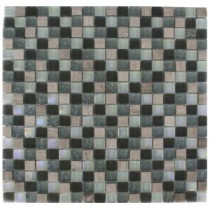 Splashback Tile Galaxy Blend Squares 12 in. x 12 in. Marble/Glass Mosaic Floor and Wall Tile