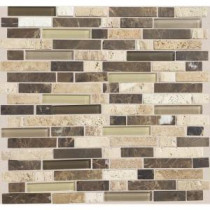 Daltile Stone Radiance Morning Sun 11-3/4 in. x 12-1/2 in. x 8 mm Glass and Stone Mosaic Blend Wall Tile