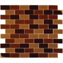 MS International 12 in. x 12 in. Brown Blend Glass Mesh-Mounted Mosaic Tile