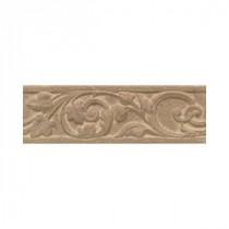 Daltile Salerno Marrone Chiaro 3 in. x 10 in. Glazed Ceramic Floral Accent Wall Tile