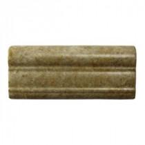 Daltile Brancacci Windrift Beige 2 in. x 6 in. Ceramic Counter Rail Wall Tile