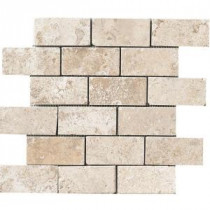 MARAZZI Montagna Lugano 12 in. x 12 in. Gray Porcelain Mesh-Mounted Mosaic Tile