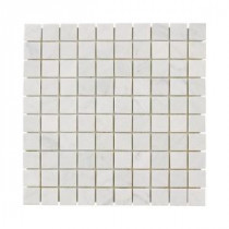 Jeffrey Court Carrara White Mosaics 12 in. x 12 in. Marble Kitchen Wall and Floor Tile