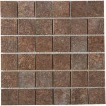 MARAZZI Granite 12 in. x 12 in. Marron Porcelain Mesh-Mounted Mosaic Tile