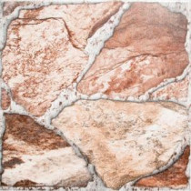 MS International Piedra Roja 17 in. x 17 in. Ceramic Floor and Wall Tile