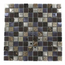 Splashback Tile Tapestry Pantheon 12 in. x 12 in. Marble and Glass Mosaic Floor and Wall Tile