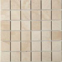MARAZZI Terra 12 in. x 12 in. Topaz Ice Porcelain Mesh-Mounted Mosaic Tile
