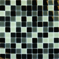 MS International 1 In. x 1 In. Black Blend Glass Mosaic Floor & Wall Tile