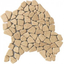Daltile Irregular Champagne Gold 12 in. x 12 in. x 9-1/2mm Pebble Marble Mosaic Wall and Floor Tile (6 sq. ft. / case)