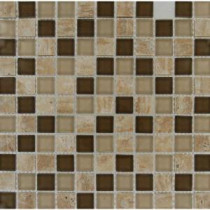 MS International Pine Valley 1 in. x 1 in. Glass & Stone Mesh-Mounted Mosaic Tile