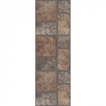 TrafficMASTER Allure 12 in. x 36 in. Yukon Brown Resilient Vinyl Tile Flooring (8-Case)