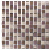 Jeffrey Court Blue Shale 12 in. x 12 in. Glass Wall and Floor Tile