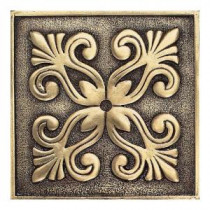 Daltile Massalia Bullion 4 in. x 4 in. Metal Frieze Wall Tile