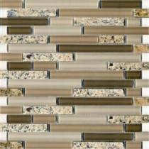 EPOCH Spectrum Desert Gold-1663 Granite And Glass Blend Mesh Mounted Floor & Wall Tile - 4 in. x 4 in. Tile Sample