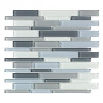 Jeffrey Court Stratosphere Blue Pencil 12 in. x 12 in. Glass Wall & Floor Tile