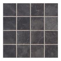 Daltile Continental Slate Asian Black 12 in. x 24 in. x 6mm Porcelain Mosaic Tile (22 sq. ft. / case)