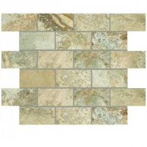 Daltile Folkstone Slate Sandy Beach 12 in. x 12 in. x 8mm Slate Mosaic Tile