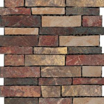U.S. Ceramic Tile Stratford 12 in. x 12 in. Multi-Color Porcelain Mesh-Mounted Mosaic Tile