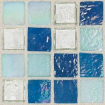 Daltile Egyptian Glass Blue Pearl Mix 12 in. x 12 in. x 6mm Glass Face-Mounted Mosaic Wall Tile (11 sq. ft. / case)