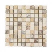 Jeffrey Court Giallo S Medley 12 in. x 12 in. Travertine Wall & Floor Tile