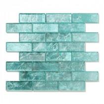 Solistone Folia Glass 12 in. x 12 in. Juniper Glass Mesh-Mounted Mosaic Tile