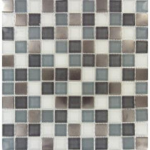 MS International 12 in. x 12 in. Diamond Cove Glass & Metal Blend Mesh-Mounted Mosaic Tile