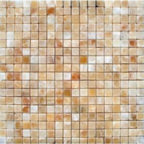 MS International 5/8 In.x5/8 In. Honey Onyx Polished - 12 In.x12 In. Sheet