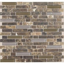 Daltile Stone Radiance Wisteria 11-3/4 in. x 12-1/2 in. x 8 mm Glass and Stone Mosaic Blend Wall Tile