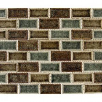 MS International 12 in. x 12 in. Fossil Canyon Glass Mesh-Mounted Mosaic Tile