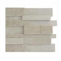 Splashback Tile Dimension 3D Brick Crema Marfil Pattern - 6 in. x 6 in. Tile Sample