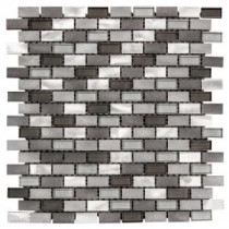 Jeffrey Court Stealth 12 in. x 12 in. Glass/Metal Mosaic Wall Tile
