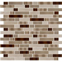 MS International Tuscan Trail Interlocking 12 in. x 12 in. Glass/Stone Mosaic Wall Tile