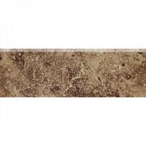 Daltile Heathland Edgewood 2 in. x 6 in. Glazed Ceramic Bullnose Wall Tile
