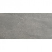 U.S. Ceramic Tile Avila 24 in. x 12 in. Gris Porcelain Floor and Wall Tile
