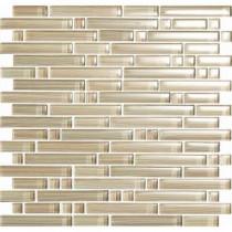 EPOCH Brushstrokes Chiarro-1502-S Strips Mosaic Glass Mesh Mounted - 4 in. x 4 in. Tile Sample
