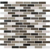 MS International Silver Tip 12 in. x 12 in. Glass Stone Metal Blend Mesh-Mounted Mosaic Wall Tile