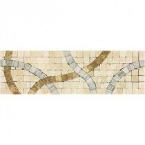 Daltile Stone Decorative Accents Confetti Parade 2-3/4 in. x 9 in. Decorative Accent Wall Tile