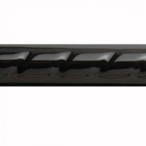 U.S. Ceramic Tile Bright Black 7/8 in. x 6 in. Ceramic Rope Liner Bar Tile