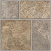 TrafficMASTER Allure Yukon Tan Resilient Vinyl Tile Flooring - 4 in. x 4 in. Take Home Sample