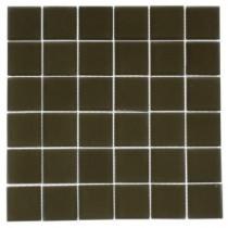 Splashback Tile 12 in. x 12 in. Contempo Khaki Frosted Glass Tile