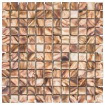 Jeffrey Court 11-3/4 in. x 11-3/4 in. Duchess Glass/Shell Mosaic Wall Tile