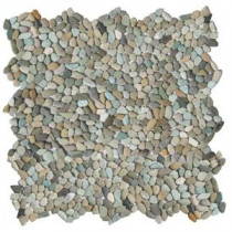 Solistone Micro Pebble Cayman Blue 12 in. x 12 in. x 6.35 mm Mesh-Mounted Mosaic Floor and Wall Tile (10 sq. ft. / case)