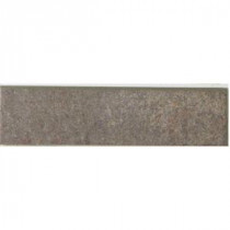 MARAZZI Granite Graphite 12 in. x 3 in. Porcelain Bullnose Floor and Wall Tile