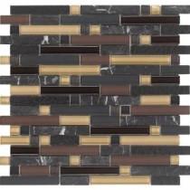 EPOCH Varietals Pinot Noir-1655 Stone And Glass Blend Mesh Mounted Floor & Wall Tile - 4 in. x 4 in. Tile Sample