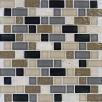 MS International Stonecrest Interlocking Pattern 12 in. x 12 in. Multi Mesh-Mounted Mosaic Tile