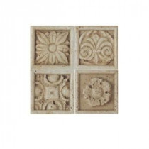 Daltile Fashion Accents 2 in. x 2 in. Resin Floral Dot Ceramic Accent Wall Tile
