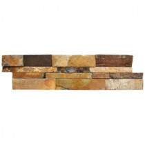 MS International California Gold Ledger Panel 6 in. x 24 in. Natural Slate Wall Tile (5 cases/20 sq. ft. / pallet)