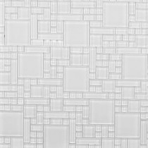 Instant Mosaic 12 in. x 12 in. Peel and Stick Pure White Glass Wall Tile