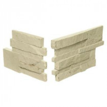 Daltile Exterior Stack Eastern Sand 7 in. x 13-1/2 in. and 7 in. x 10 in. Stone Corner Wall Tile