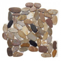 Solistone Koja Pebble Anaconda 12 in. x 12 in. x 9.5 mm Mesh-Mounted Mosaic Floor and Wall Tile (10 sq. ft. / case)